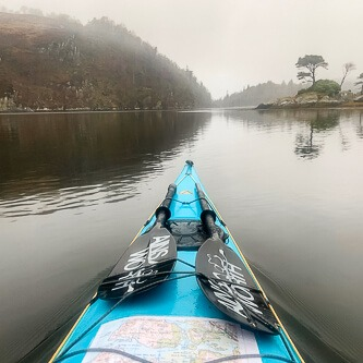 Kayaking in the mist on Loch Moidart